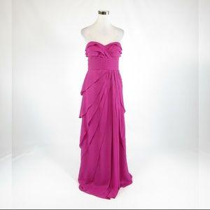 Fuchsia pink CACHE ball gown dress 6